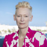 Tilda Swinton at this month's Cannes Film Festival.