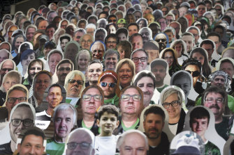The NRL will take a leaf out of the German Bundesliga soccer premiership and use cardboard cut-outs of fans at games.