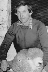 Darcy Wettenhall with one of his champion Corriedale sheep.