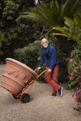 Bill Henson in his Northcote garden.