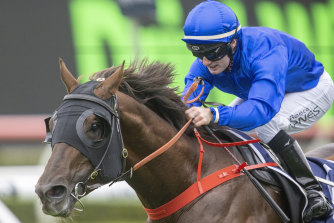 Reece Jones drives Gravina to the post for the powerful Godolphin stable.