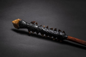 Death Spear by  Raymond Timbery and Joel Deaves, a replica of Pemulway's spear.