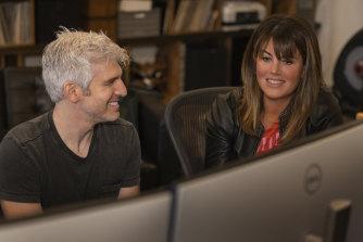 <i>15 Minutes of Shame</i> co-producers Max Joseph and Monica Lewinsky.