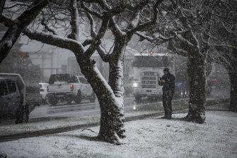 More snow in Blackheath.