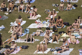 NSW Health Minister Brad Hazzard said he was more worried about unvaccinated people than crowds at Sydney's beaches.