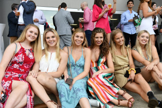 Revellers at the 2018 Million Dollar Chase at Wentworth Park.