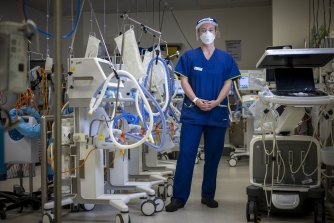 Healthcare workers like ICU nurse Tayla Christofakakis, of the Austin hospital, are preparing for a third wave of COVID.