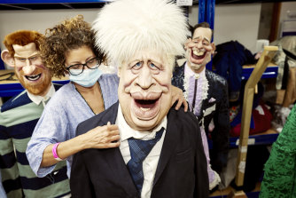 One of the life-size models used to produce the satiric Spitting Image.