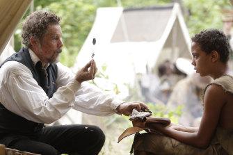 "Hawke with Joshua Caleb Johnson as freed slave ""Onion"" in The Good Lord Bird."