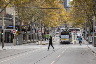 Melbourne's CBD has been hit hard again by the latest lockdown.