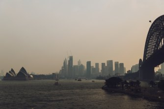 """Surrounded"": Sydney will remain under a blanket of smoke for most of the week."