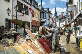 The clean up is under way following severe flash flooding in Bad Neuenahr-Ahrweiler, Germany.