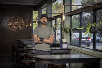 Steffan Tissa, owner of Bruger Cafe in Footscray says enforcing state government rules on vaccinated customers is going to be difficult.