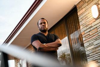 AswathChavittupara, 39, outside his Morley home.