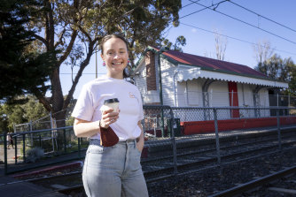 Tenille Gilbert from For Change Co. at Middle Park station, where the cafe will open.