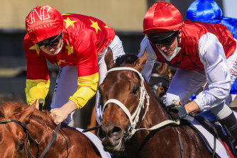 Giannis takes out the Dulcify Stakes at Kembla Grange on Saturday.