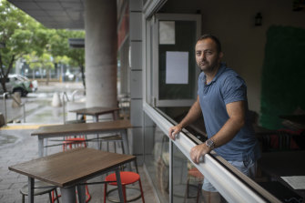 Bar owner Nick Glynatsis says Olympic Park resembled a ghost town even before COVID-19 when events were not on.
