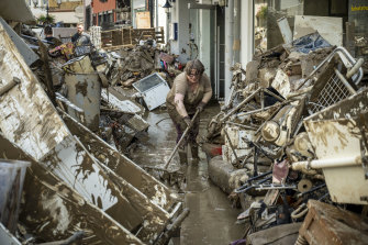 Scenes of devastation are replicated across large parts of Germany and Belgium, as well as in the Netherlands.