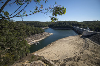 Warragamba Dam's storage fell below 50 per cent earlier this year.