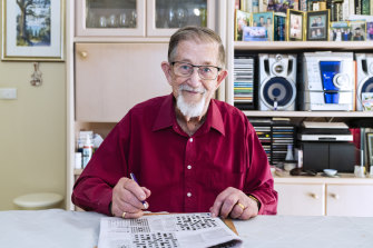 Donald Harrison, crossword master and Herald cryptic compiler.