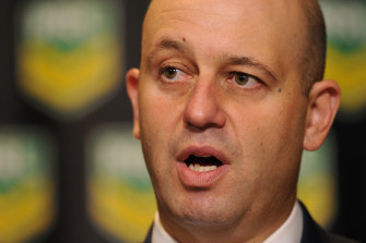 NRL chief executive Todd Greenberg said the code supported an ANZ Stadium redevelopment as a priority, though safety and compliance issues at Allianz should be addressed.