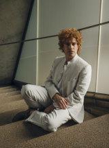 Baritone Leigh Melrose in costume as Brett Whiteley.