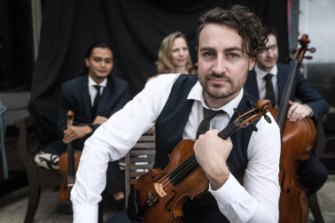 Phoenix Quartet led by Dan Russell (front, violinist with facial hair) is coming to Canberra.
