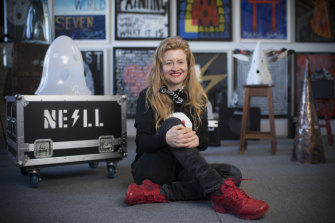 "Nell at her studio at Carriageworks: ""I would have loved to be a rock star."""