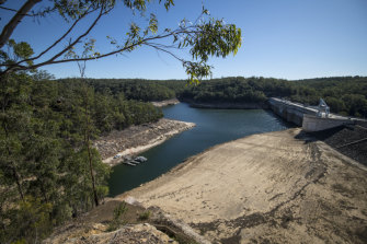 Warragamba Dam's storage has fallen below 50 per cent this month.