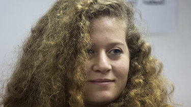 Teen Palestinian protest icon Ahed Tamimi in a courtroom at the Ofer military prison near Jerusalem.