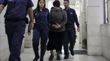 Malka Leifer arrived in court shackled and wearing a red turban.