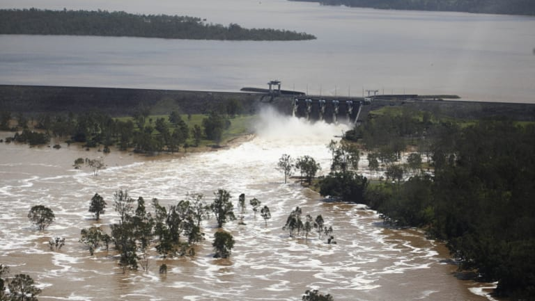 Water was released Wivenhoe Dam during the 2011 flood.