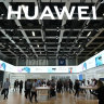 The Chinese company continues to seek to expand in new markets. Visitors check out new Huawei smartphones in Berlin, Germany.