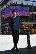 Daniel Kotsimbos on site at the corner of Flinders and Elizabeth Streets.