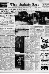 Front page of The Age on July 14, 1952.