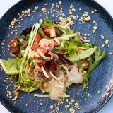 Pork belly salad from Wheelers in Pambula.