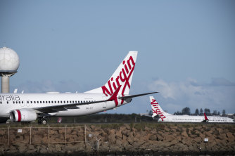 The Morrison government is letting states outbid each other to help Virgin Australia.