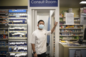 David Tran, a pharmacist at Blooms The Chemist in Padstow, will begin administering AstraZeneca COVID-19 vaccines in July.