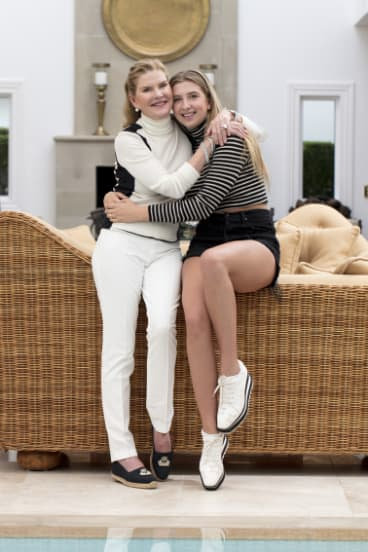 With daughter Cartier.
