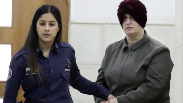 Former Melbourne school principal Malka Leifer is brought to a courtroom in Jerusalem on Tuesday.