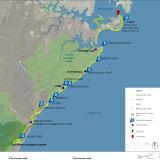 Jalur Great Southern Walking, membentang 59 km dari Botany Bay hingga Illawarra Escarpment.