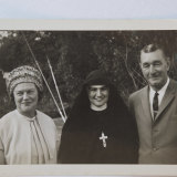Sister Margaret Fitzgerald with her family in 1965, wearing original Sisters of Charity full habit.