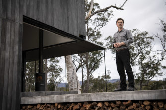 Simon Anderson is an architect, and a holiday home he built for himself in a bushfire zone in the Megalong Valley in the Blue Mountains is a finalist in this year's Australian Institute of Architects' NSW awards.
