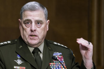 General Mark A Milley, the chairman of the Joint Chiefs of Staff.