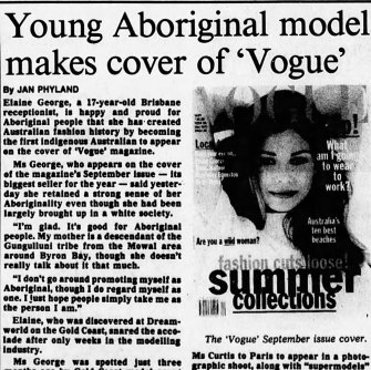 The Age's story of Elaine's historic cover.