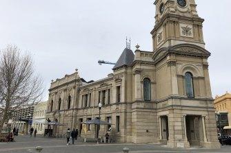 Fremantle Town Hall on Sunday.