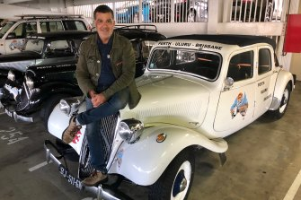 Eric Massiet du Biest on a white Citroen that will leave Fremantle on Sunday.