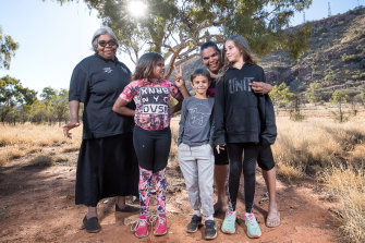 Helen Gillen (left) with family members Arihanna, Vita, Leanna and Shania.