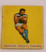 The 1963 Scanlens football card of Graham 'Polly' Farmer.