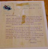 The 1924 Brownlow Medal letter.